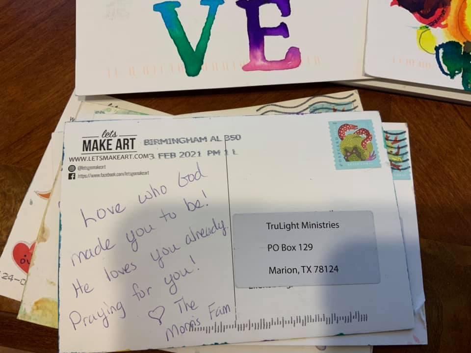 Valentine's Cards for Foster Children