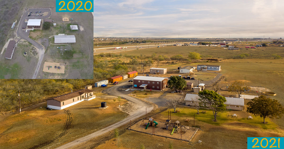 picture comparing the growth of TruLight Youth Village from 2020 to 2021