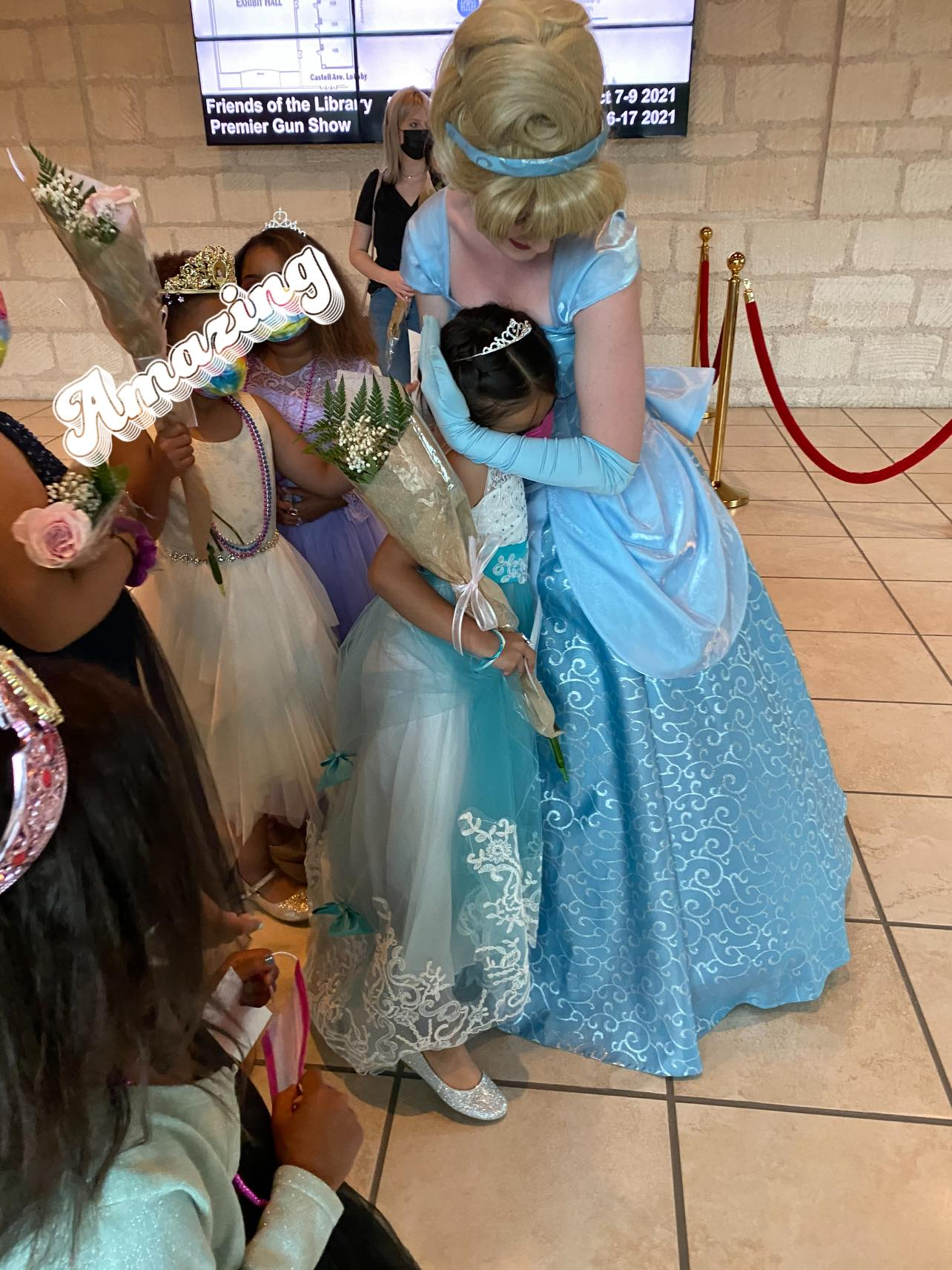 "Foster Children enjoying ""Cinderella Live"" show"