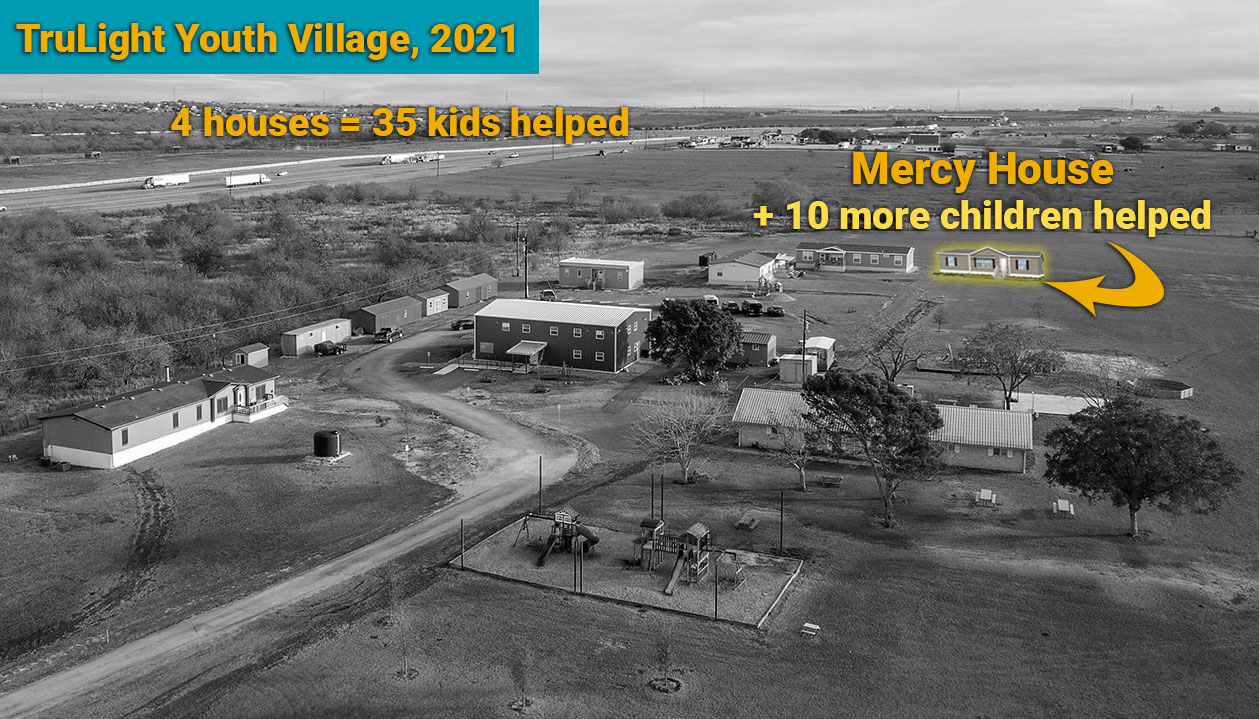 Image of TruLight Youth Village with insert of new house and added capacity to help 10 more children